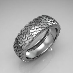 Mud Tire Tread Wedding Ring