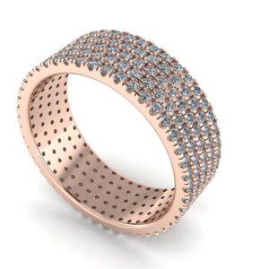 French Pave Diamond Wedding Ring