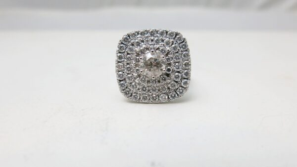 Cushion Shape Triple Halo Ring