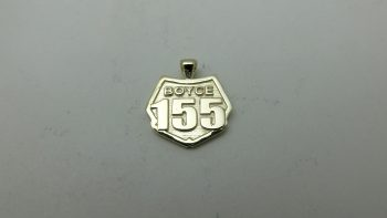 motocross number plate necklace