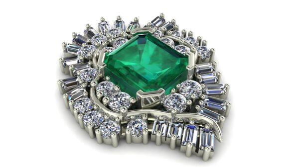 Diamond And Gemstone Pendant