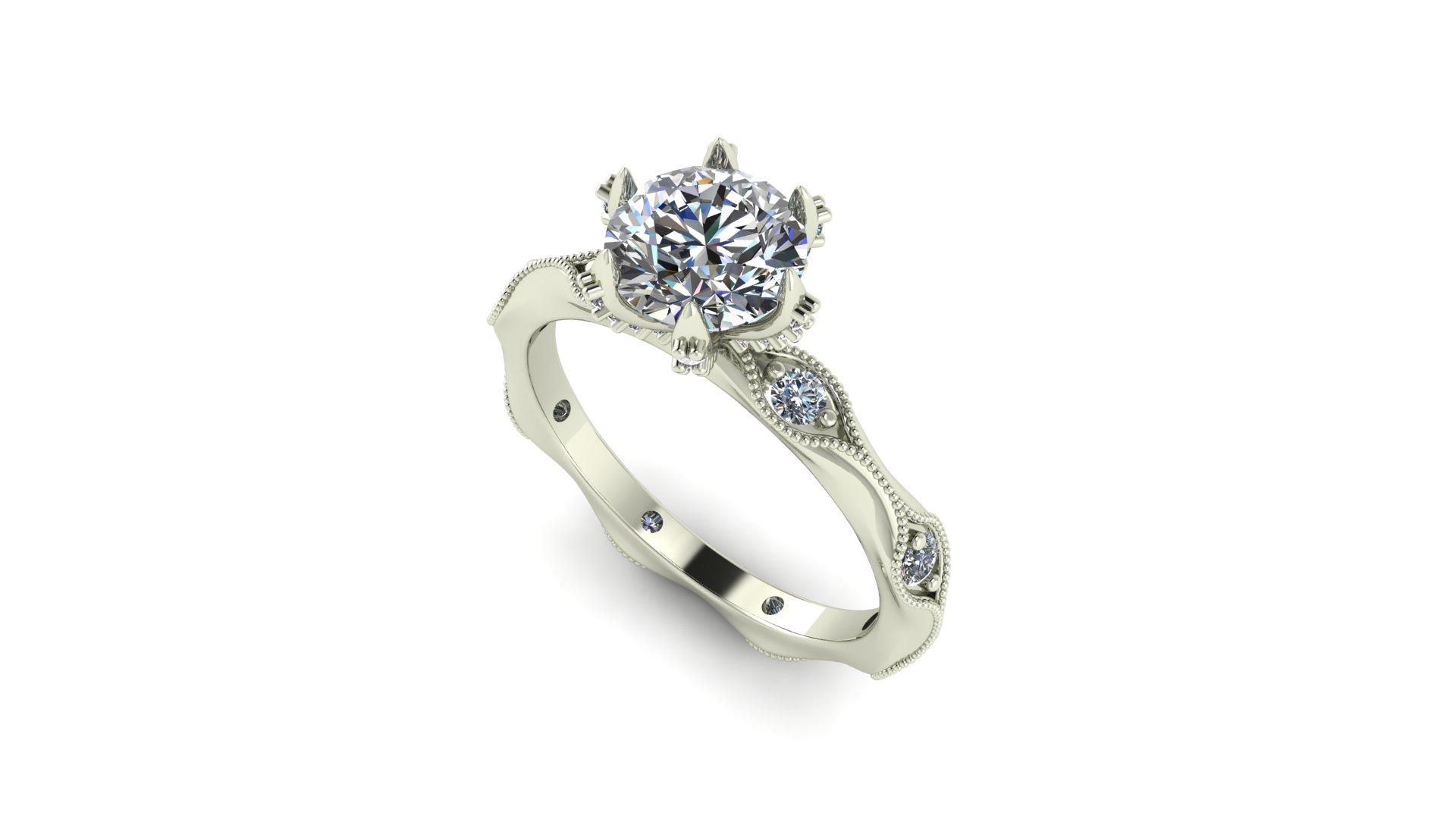 Custom Moissanite Engagement Rings