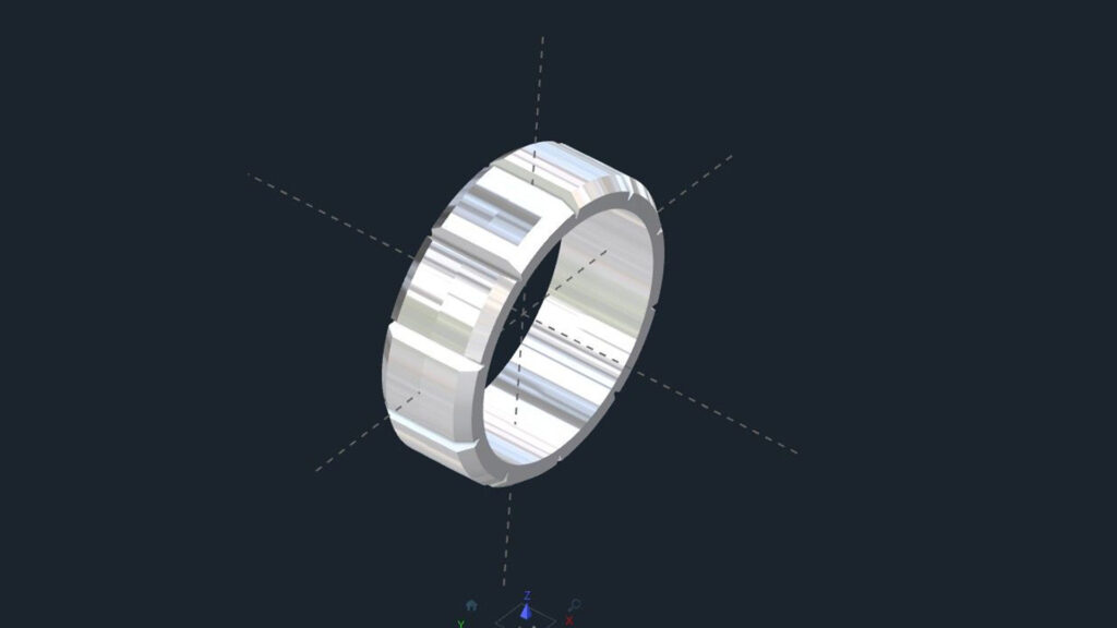 Notched Men's Wedding Ring