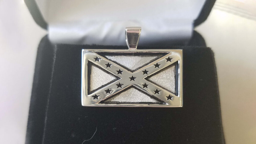 Confederate Flag Necklace