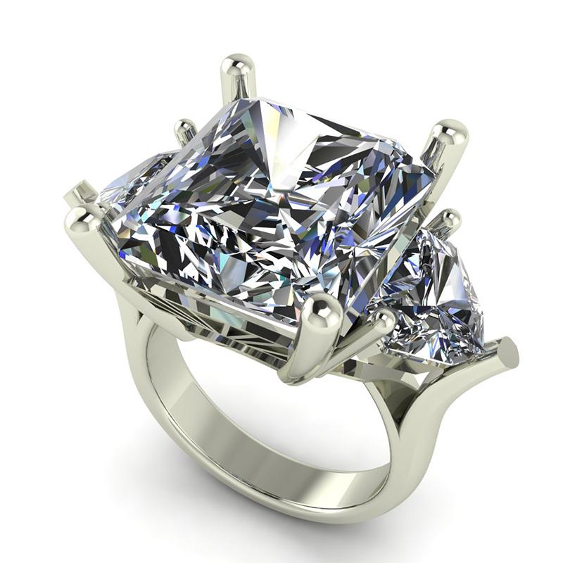 3 Stone Princess Cut Engagement Ring