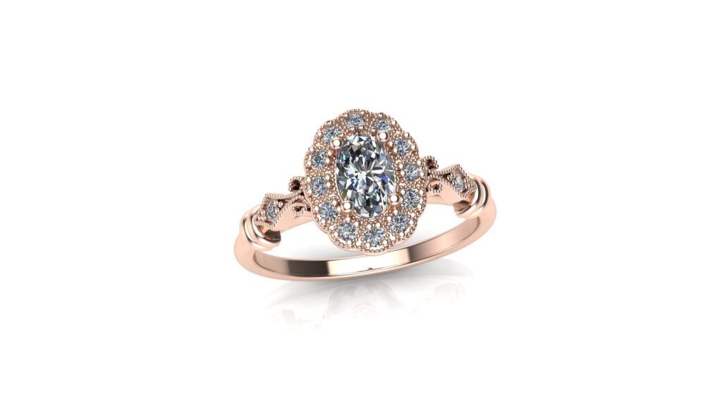 Vintage Halo Customized Engagement Rings