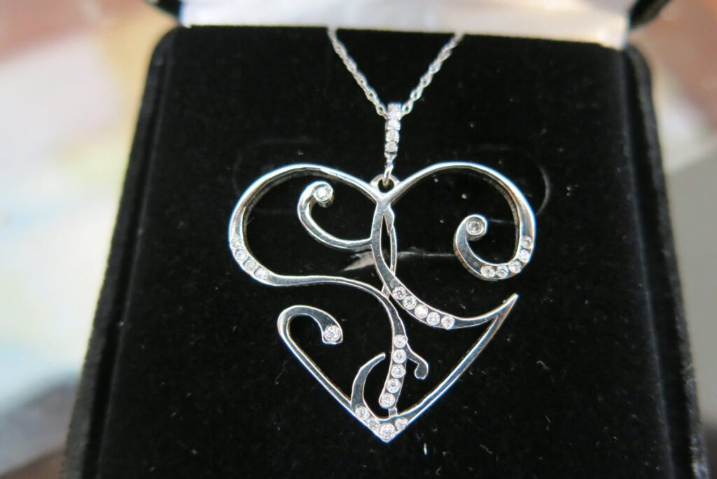 Sculptural Heart Diamond Necklace