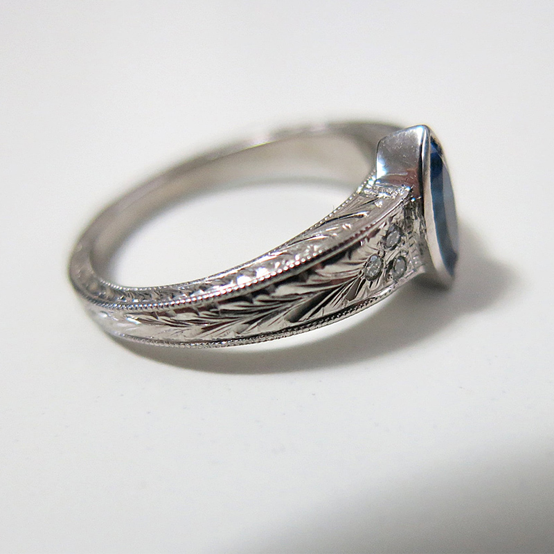 Engraved Engagement Ring