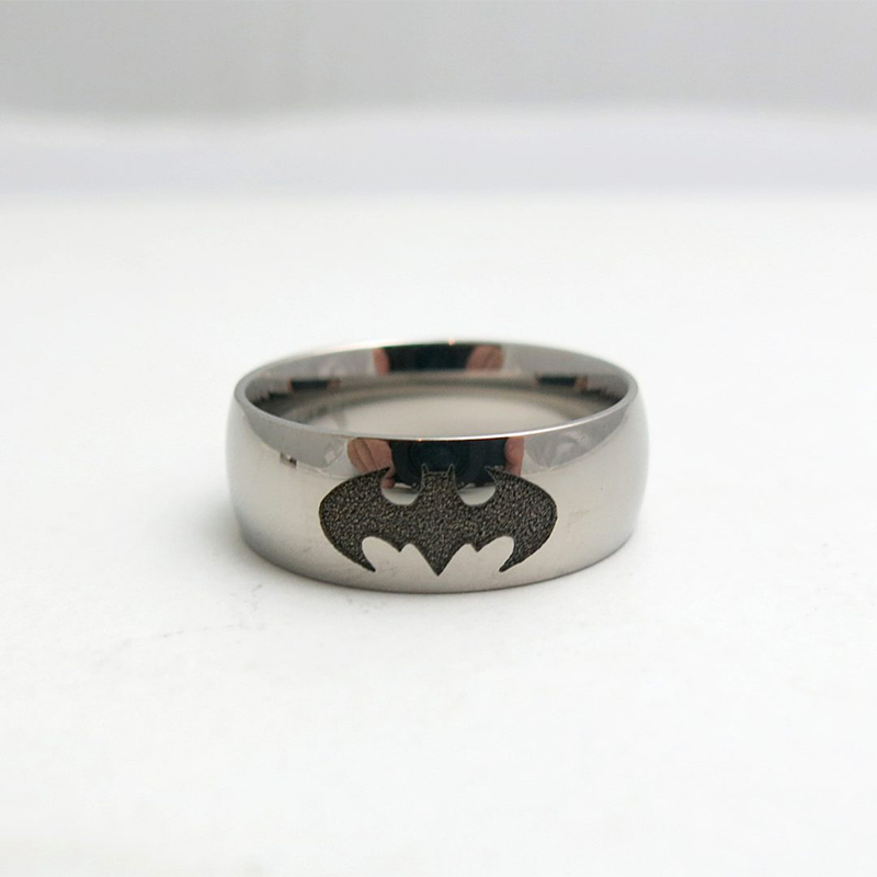Titanium Batman Wedding Ring