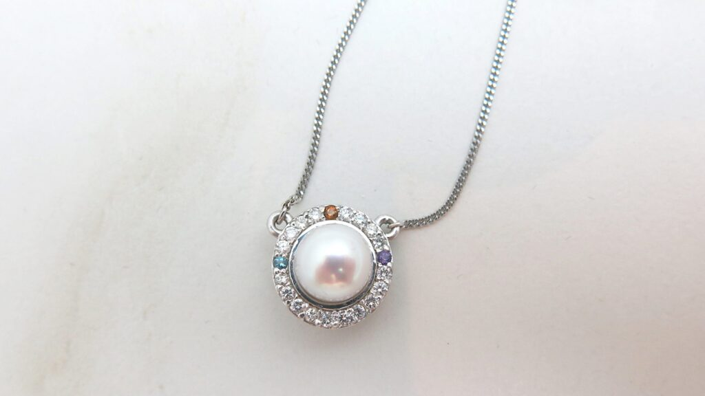 Pearl & Gemstone Diamond Pendant