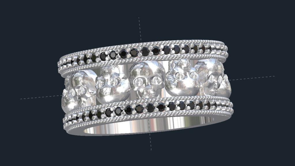 Skull & Diamond Wedding Ring