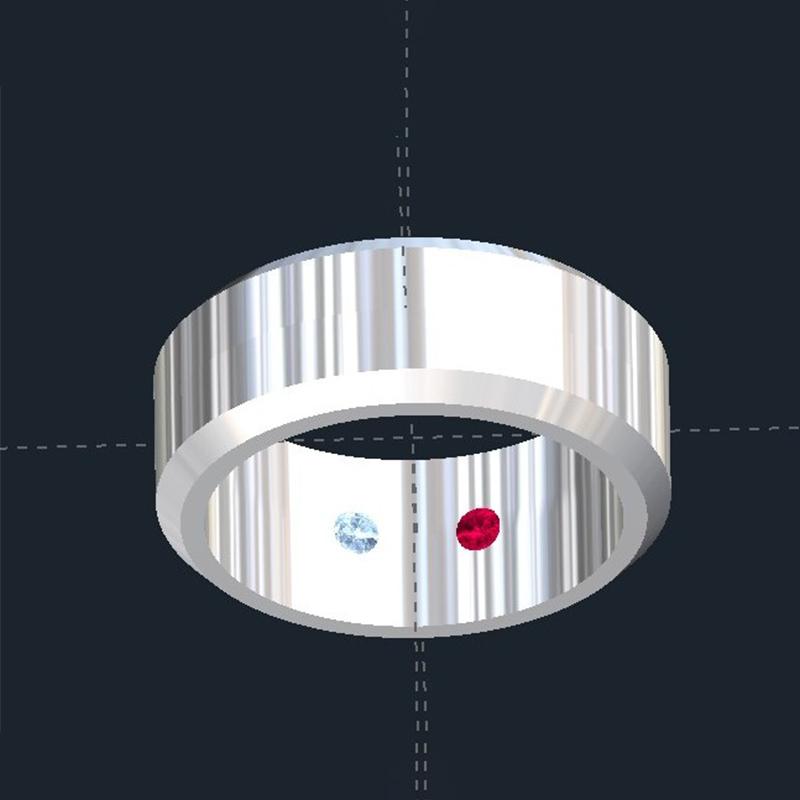 Hidden Birthstone Wedding Rings