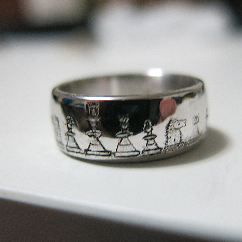 Hand Engraved Wedding Rings