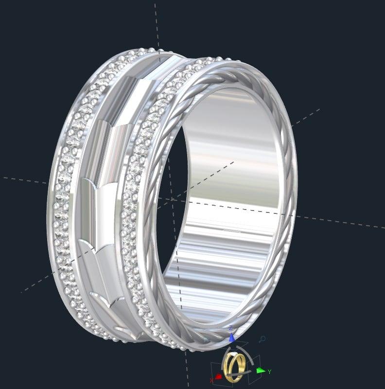 Armor Plate Wedding Ring