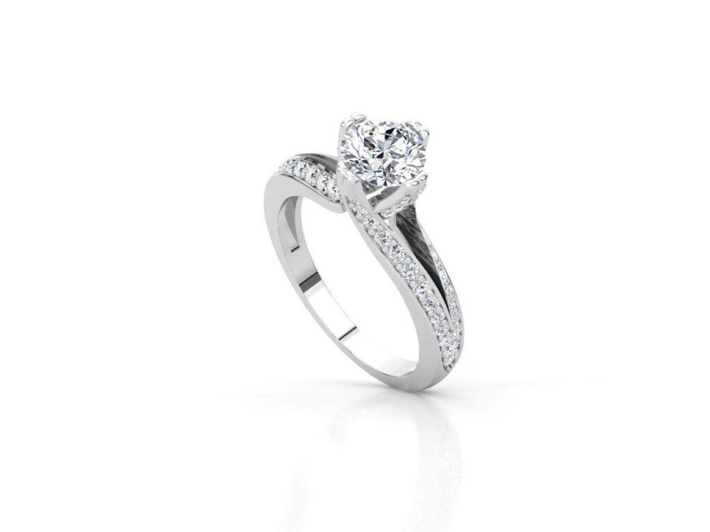 Split Shank Modern Engagement Ring