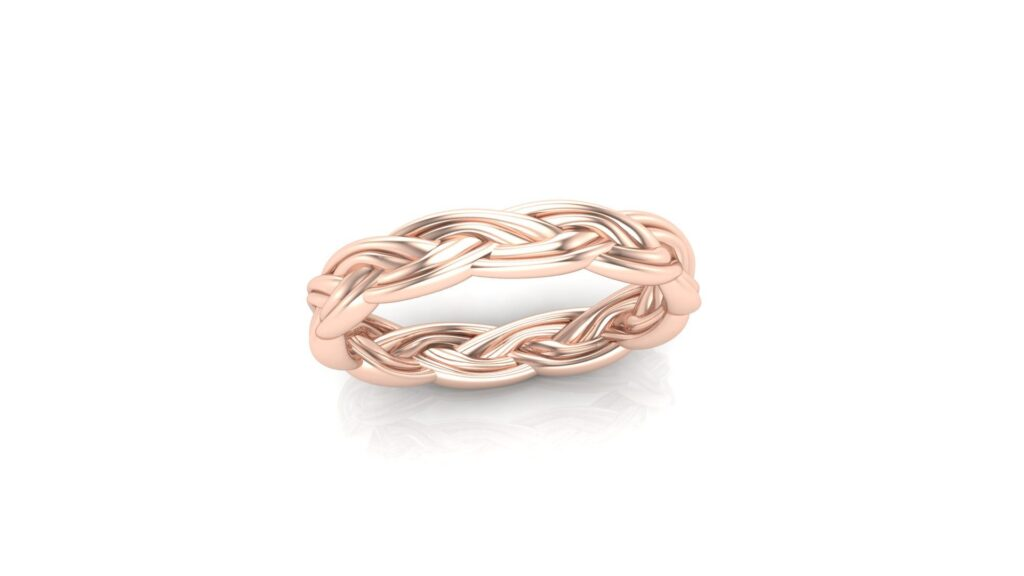 Woven Rope Wedding Ring