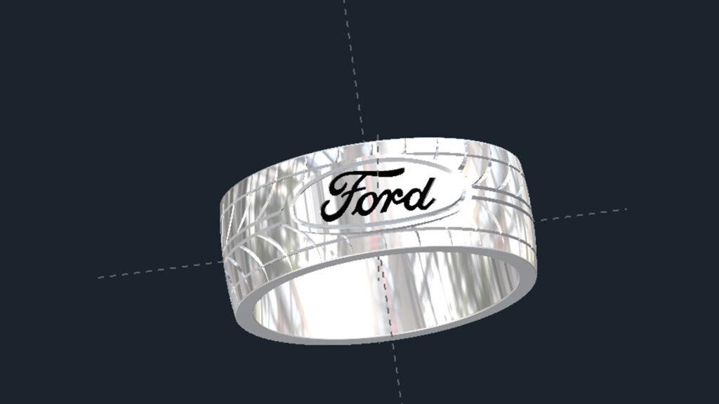 Ford Tire Tread Wedding Ring