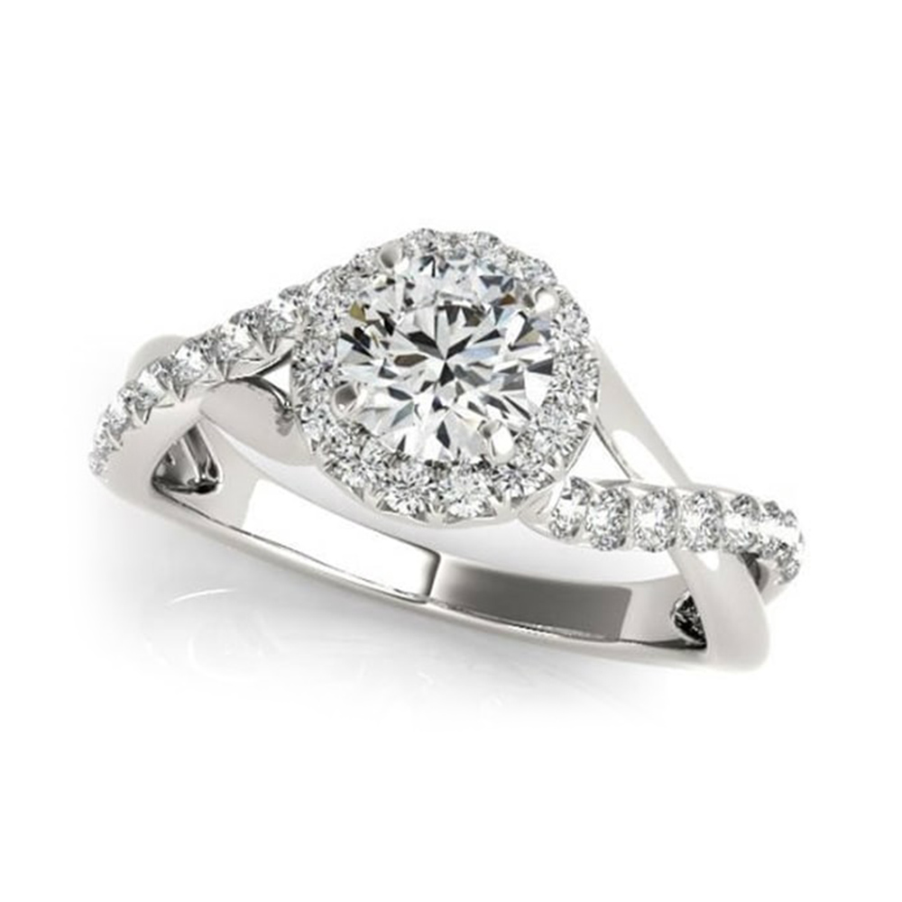 Split Shank Crossover Engagement Ring