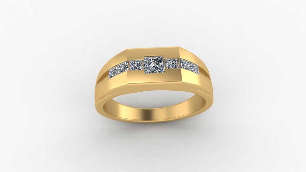 Channel Set Men's Wedding Ring