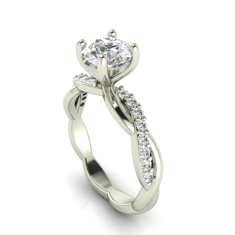 Split Shank Crossover Customized Engagement Rings
