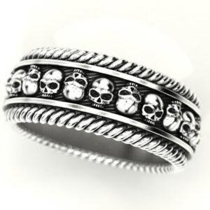 Braided Skull Wedding Ring