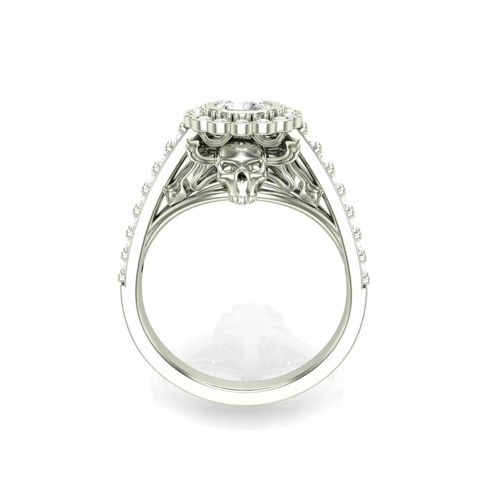 Smokin' Skull Engagement Ring
