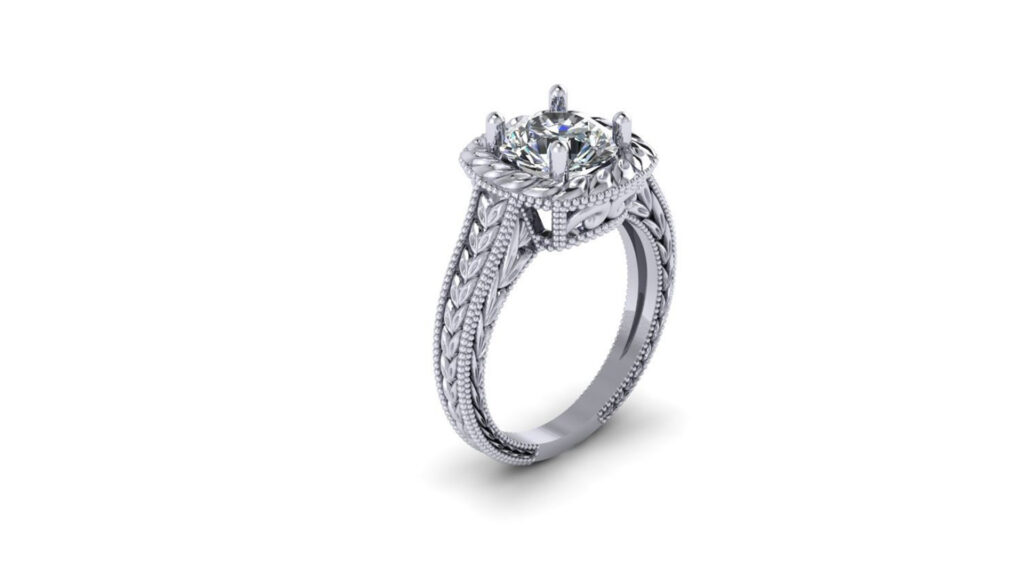 Art Deco Solitaire Engagement Ring