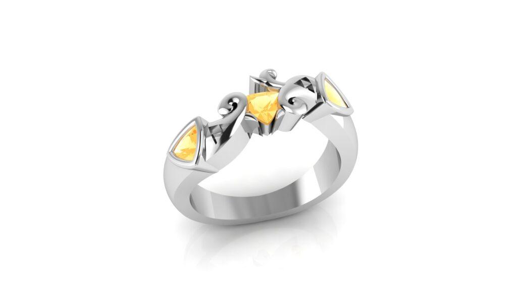 Zelda Triforce Engagement Ring