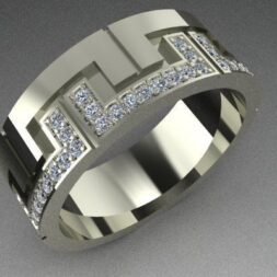 Interlocking Diamond Wedding Ring