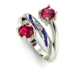 Two Stone Ruby Engagement Ring
