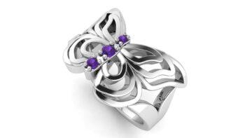 Custom Hummingbird Engagement Ring