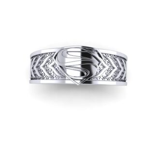 Tapered Superman Wedding Ring