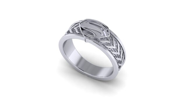 Tapered Superman Wedding Ring