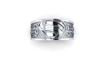 Superhero Themed Wedding Rings