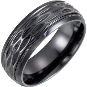 Contemporary Metal Wedding Ring