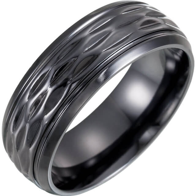 Contemporary Metal Wedding Ring