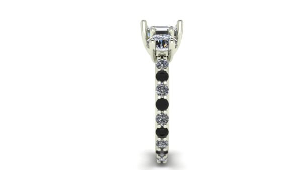Emerald 3 Stone Engagement Ring