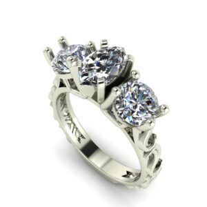Marquise 3 Stone Engagement Ring