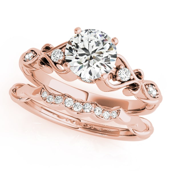 Scrolled Heart Engagement Ring