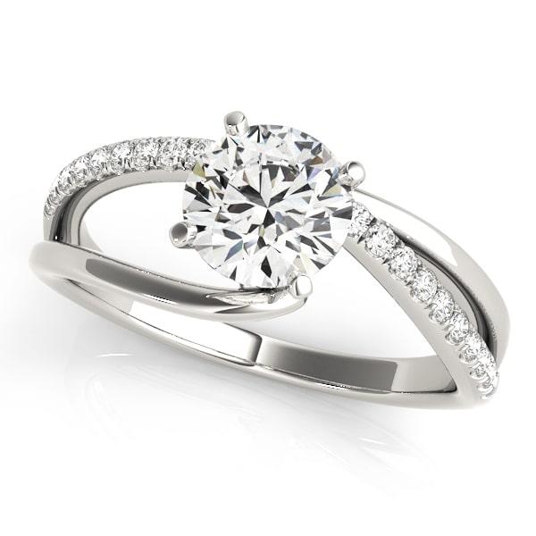 Split Shank Asymmetrical Engagement Ring