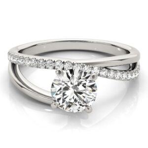 Bypass Asymmetrical Engagement Ring