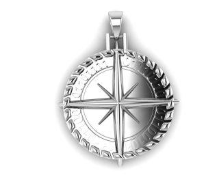 Binary Compass Pendant
