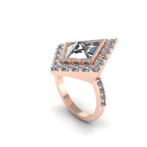 Kite Halo Engagement Ring