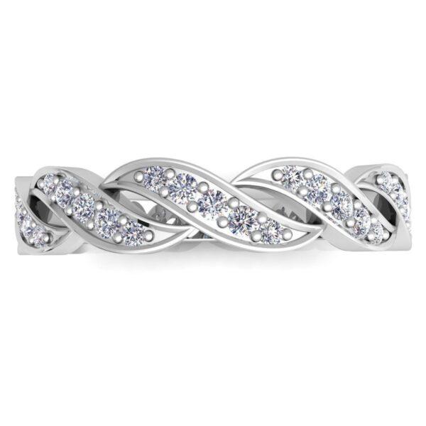 Scalloped Diamond Wedding Band