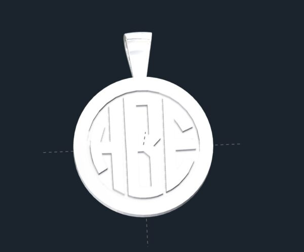 Monogram Necklace Pendants