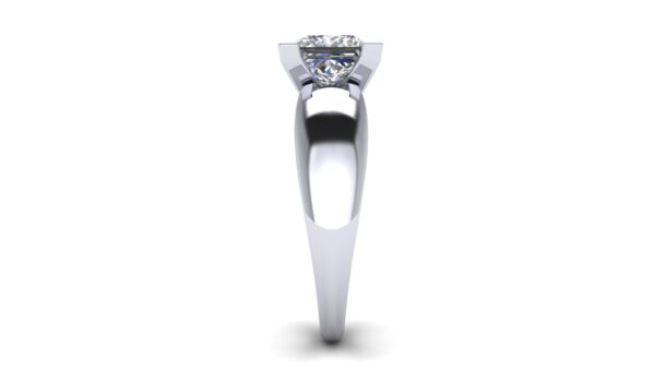 V Prong Solitaire Engagement Ring