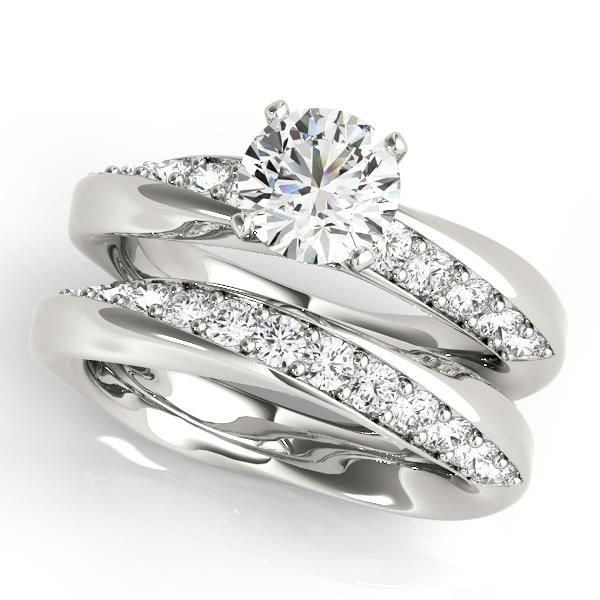 Asymmetrical Diamond Engagement Ring