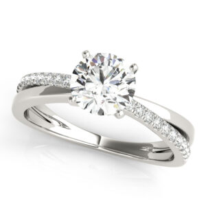 Asymmetrical Split Shank Engagement Ring