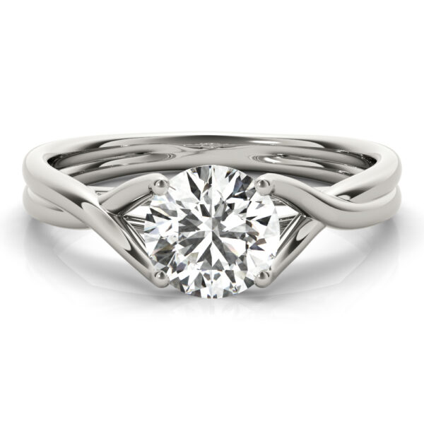 Crossover Cathedral Engagement Ring