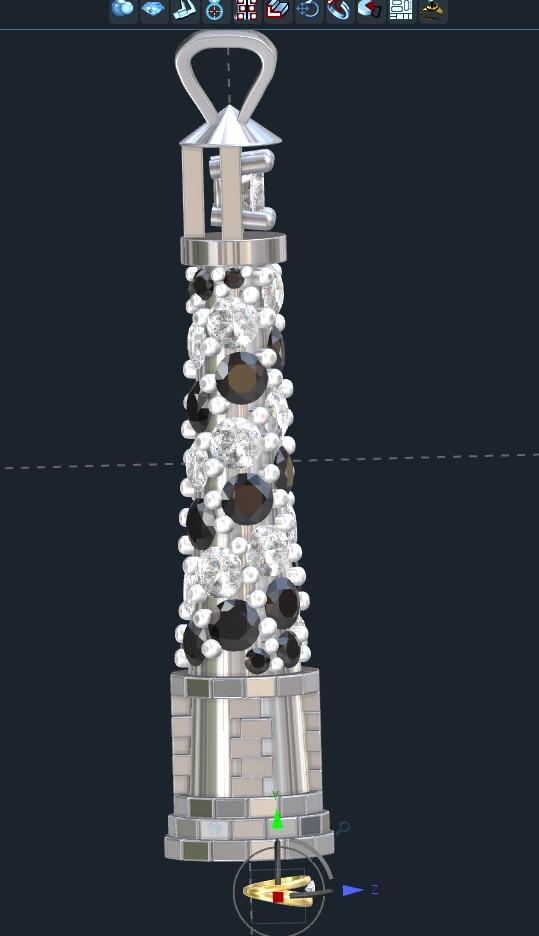 Cape Hatteras Lighthouse Pendant
